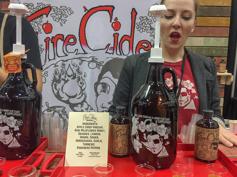 Drinking vinegar at the Winter Fancy Food Show