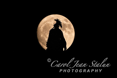 Full Moon at Statue of Freedom