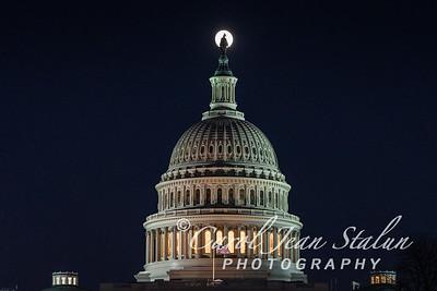 Full Moon Atop Capitol
