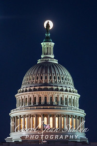 Full Moon Atop Capitol 2