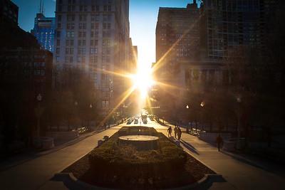 Golden Hour at Chicago's Millennium Park.
