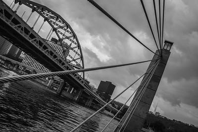 Bridge in Downtown Pittsburgh Pennsylvania.