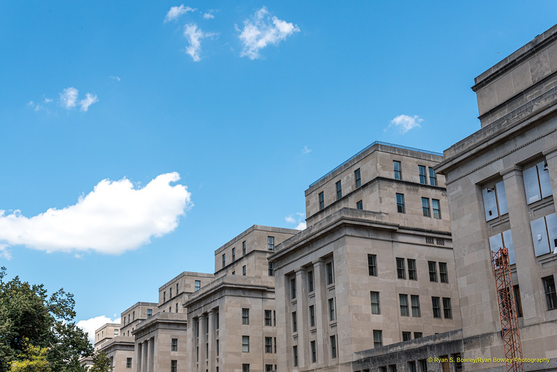 Rear of the US Interior Department Headquarters