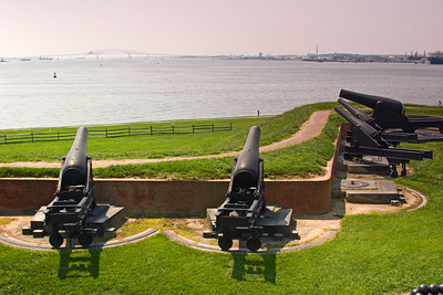 Cannons at Fort McHenry, Chesapeake Bay, Baltimore MD
