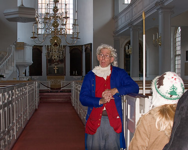Actor in Old North Church, Boston MA