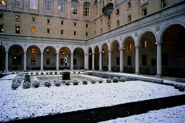 Interior Courtyard at the Boston Public Library