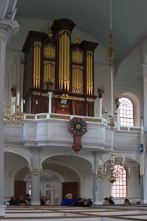 Interior of Old North Church, Boston, MA
