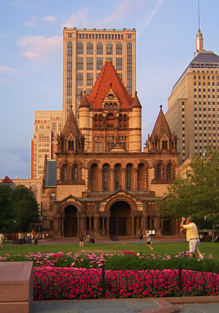 Trinity Church in Copley Square, Boston Massachusetts