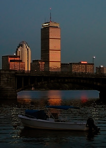 Longfellow Bridge and Boston Skyline
