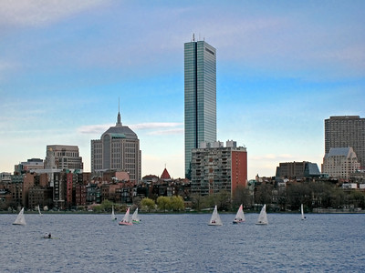 Sailboats on the Charles River, Boston, Massachusetts