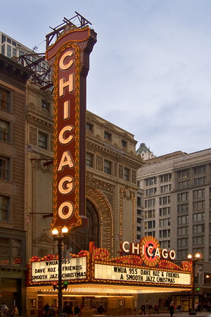 The Chicago Theatre in The Chicago Loop
