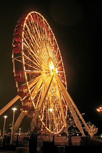 Ferris Wheel Lit at Night