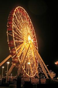 Ferris Wheel Lit at Night