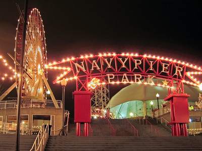 Entrance to Navy Pier Ferris Wheel, Chicago