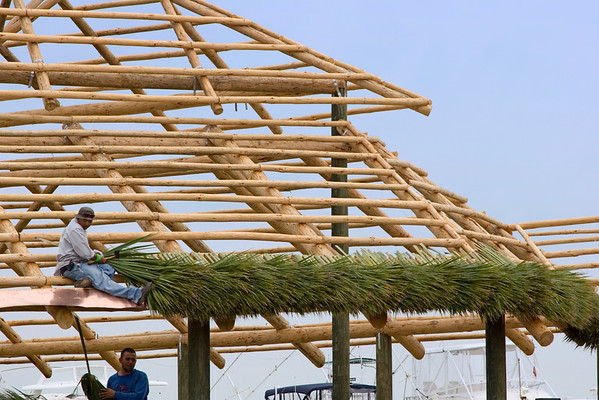 Building a Thatched Roof Tiki Bar