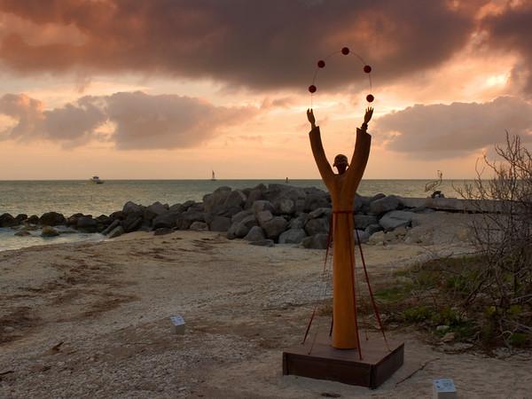 Fort Zachary Beach sculpture, Key West Florida