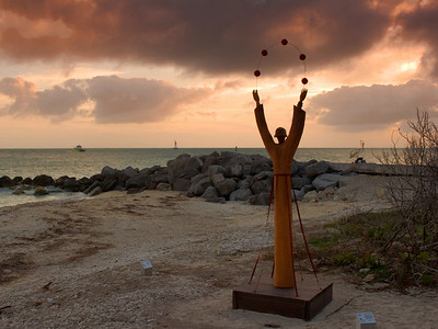 Fort Zachary Beach sculpture, Key West Florida