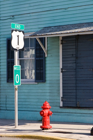 Mile 0, US Route 1, Key West Florida