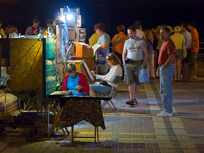 Artists at the Sunset Celebration, Key West FL