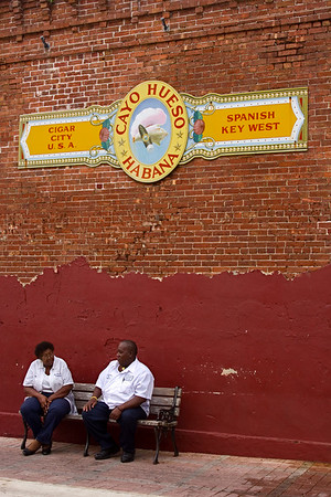 Cuban Couple at an Old Key West Cigar Factory