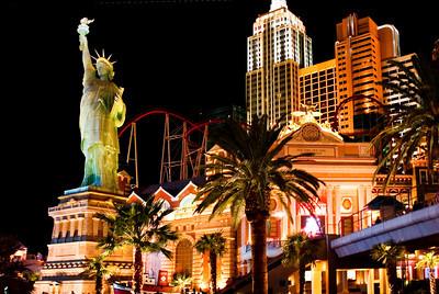 Exterior of New York NY Casino in Las Vegas