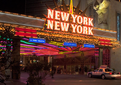 New York, NY casino entrance in Las Vegas