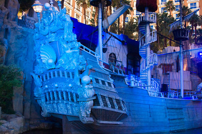 Treasure Island Hotel Pirate Ship, Las Vegas Nevada