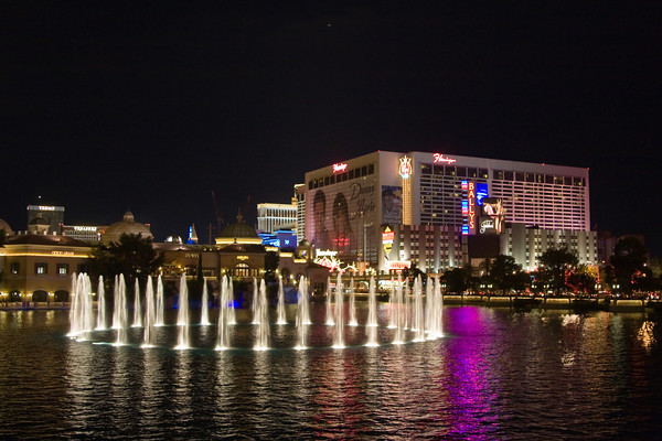 Flamingo Casino from Bellagio Fountain, Las Vegas, Nevada