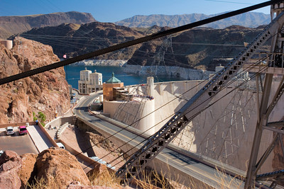 Downstream Face, Hoover Dam, Near Las Vegas