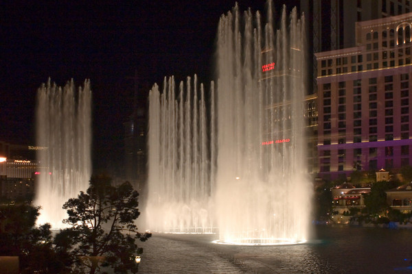 The Bellagio Hotel Water and Light Show in Las Vegas