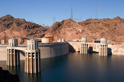 Upstream Side of Hoover Dam, Near Las Vegas