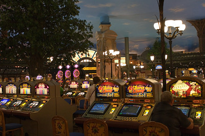 Paris casino interior, Las Vegas strip