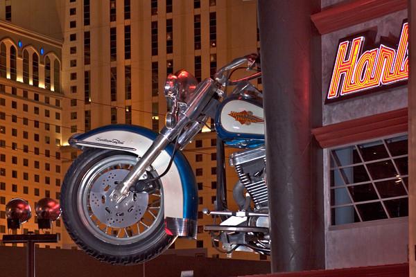 Sign for The Harley Davidson Restaurant On The Las Vegas Strip