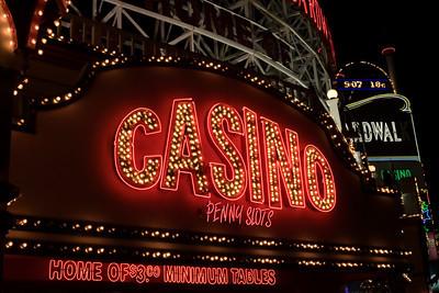 Neon Casino Sign On The Las Vegas Strip
