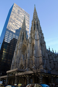 Exterior of St. Patrick Cathedral, Fifth Avenue, Manhattan, New York