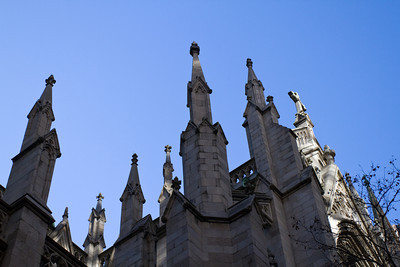 Spires of St. Patrick's Cathedral, Manhattan, NY