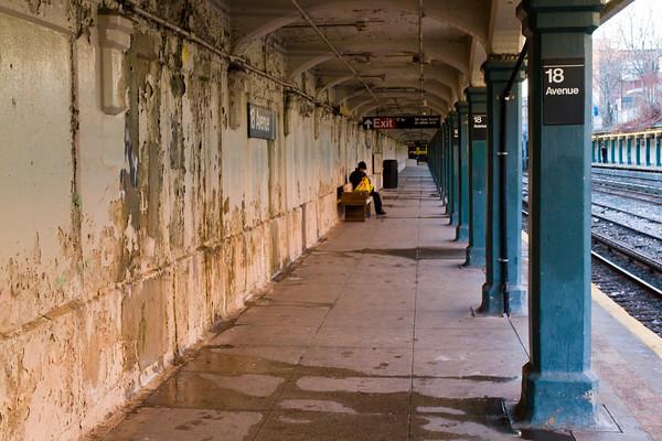 New York City Subway Station, Brooklyn, NY