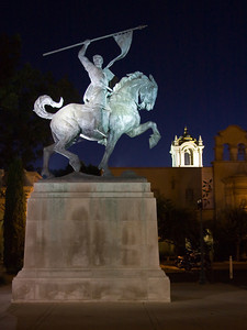 Statue of El Cid, Balboa Park, San Diego, California