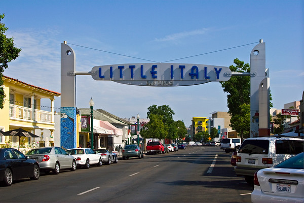Little Italy Welcome Sign, San Diego CA