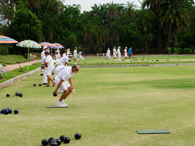 Tournament held at the San Diego Lawn Bowling Club, Balboa Park