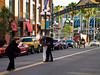 On a street in the Gaslamp District, San Diego, California