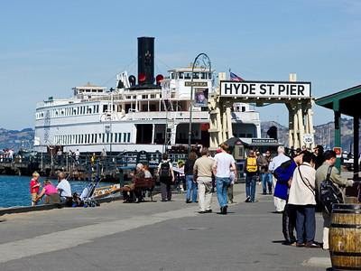 Eureka Ferry at Hyde Street Pier, San Francisco CA
