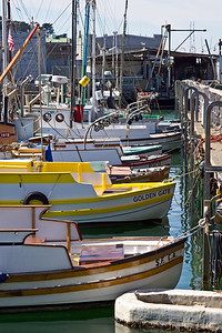Fishing Boats Docked at Fisherman's Wharf