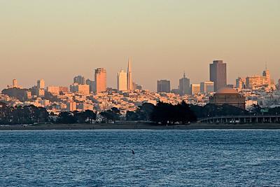 Skyline of San Francisco at Sunset