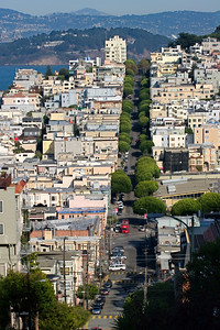 San Francisco Rooftops from Lombard Street