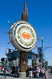 Sign for Fishermen's Wharf, San Francisco CA