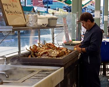 Frozen Crab at a Fisherman's Wharf Restaurant, San Francisco