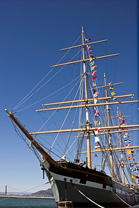 Tall Ship Balclutha at the San Francisco Maritime Museum