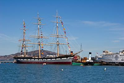 Tall Ship Balclutha at the San Francisco Maritime Museum