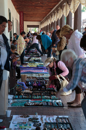 Native American Craft Vendors at the Palace of the Governors